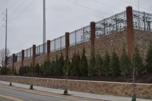 Progress Energy - Downtown Raleigh Retaining Wall