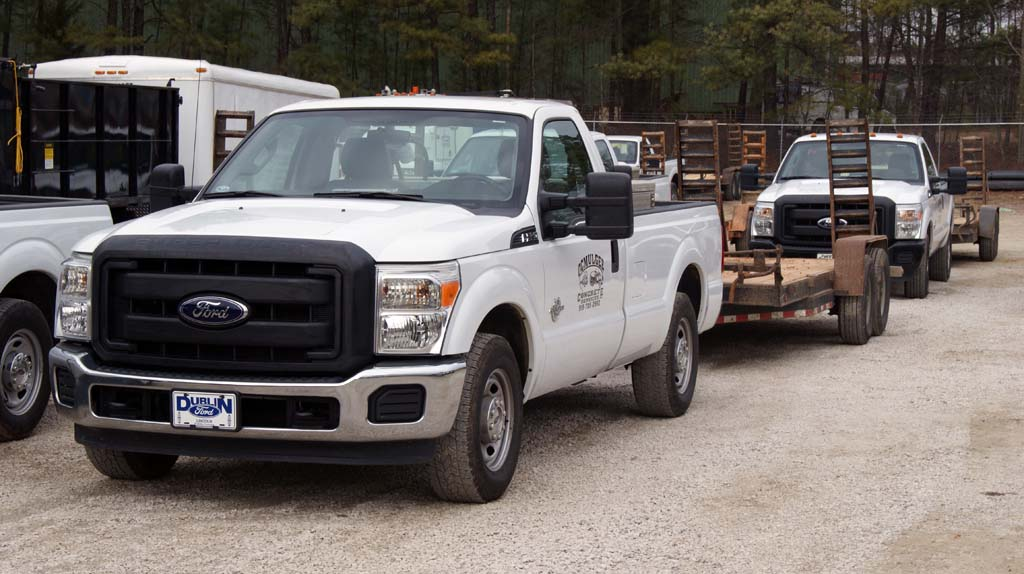 General Fleet Vehicle with Trailer – Ocmulgee Concrete – Raleigh NC