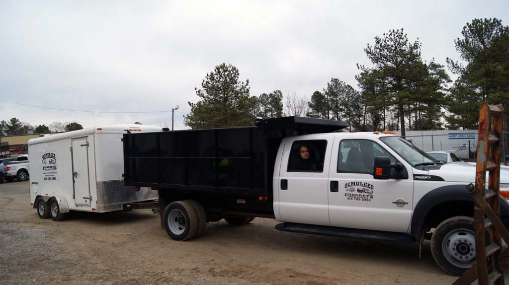 On to the job site – Ocmulgee – Raleigh Concrete